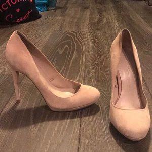 Zara beige suede heels size 38